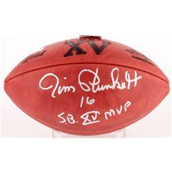 """Jim Plunkett Signed Official NFL Super Bowl XV Logo Game Ball Inscribed """"S.B. XV MVP"""" (Radtke COA)"""