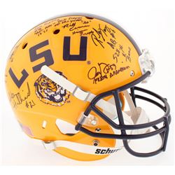 LSU Tigers Full-Size Helmet Signed by (11) with Bill Cannon, Alley Broussard, Ron Estay, Justin Vinc