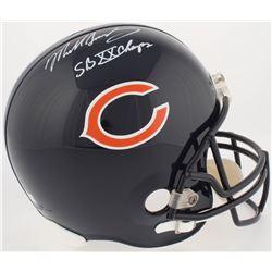 """Mike Singletary Signed Bears Full-Size Helmet Inscribed """"SB XX Champs"""" (Radtke Hologram)"""