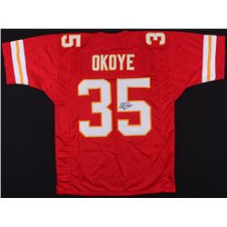 Christian Okoye Signed Chiefs Jersey (JSA COA)