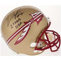 "Devonta Freeman Signed Florida State Seminoles Full-Size Helmet Inscribed ""2730 YDS""  ""31TDS"" (Radtk"