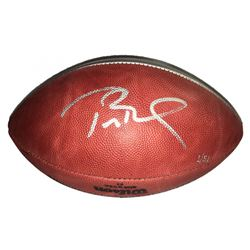 """Tom Brady Signed Super Bowl 51 Silver Limited Edition """"The Duke"""" Patriots Logo NFL Official Game Bal"""