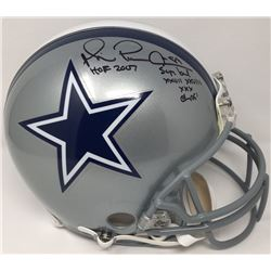 """Michael Irvin Signed Cowboys Limited Edition Full-Size Authentic On-Field Helmet Inscribed """"HOF 2007"""