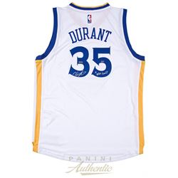 """Kevin Durant Signed Warriors Limited Edition Adidas Swingman Jersey Inscribed """"17 NBA Champ"""" (Panini"""