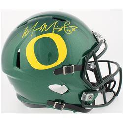 Marcus Mariota Signed Oregon Ducks Full-Size Speed Helmet (Mariota Hologram  Radtke COA)
