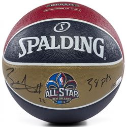 """Blake Griffin Signed Spalding 2014 All-Star Game Moneyball Basketball Inscribed """"38 pts"""" (Panini COA"""
