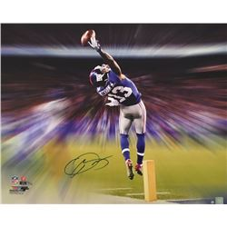 """Odell Beckham Jr. Signed Giants """"The Catch Motion Blast"""" 24x30 Limited Edition Photo on Canvas (Stei"""