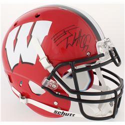 J. J. Watt Signed Wisconsin Badgers Full-Size Authentic On-Field Helmet (JSA COA  Watt Hologram)