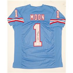 """Warren Moon Signed Oilers Jersey Inscribed """"HOF 06"""" (JSA COA)"""