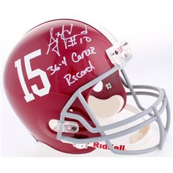 "AJ McCarron Signed Alabama Crimson Tide Full-Size Helmet Inscribed ""36-4 Career Record"" (Radtke COA)"