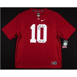 "AJ McCarron Signed Alabama Crimson Tide Nike Jersey Inscribed ""Roll Tide!"" (Radtke COA)"