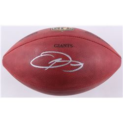 "Odell Beckham Jr. Signed ""The Duke"" Custom Engraved Official NFL Game Ball (JSA COA)"