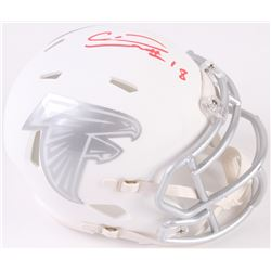 Calvin Ridley Signed Falcons Mini Speed Ice Helmet (Beckett COA)