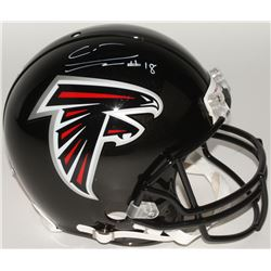 Calvin Ridley Signed Falcons Full-Size Authentic On-Field Helmet (Beckett COA)