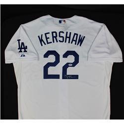 Clayton Kershaw Signed Dodgers Majestic Jersey (PSA COA)