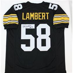 "Jack Lambert Signed Steelers Jersey Inscribed ""HOF '90"" (JSA COA)"