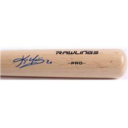 Kevin Youkilis Signed Rawlings Pro Baseball Bat (JSA Hologram)