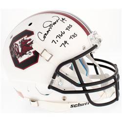 "Connor Shaw Signed South Carolina Gamecocks Full-Size Helmet Inscribed ""7,766 YDS 74 TDS"" (Radtke CO"
