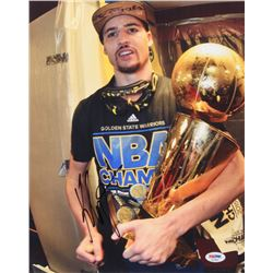 Klay Thompson Signed Golden State Warriors 11x14 Photo (PSA COA)