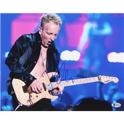 Phil Collen Signed 11x14 Photo (Beckett COA)