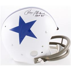 "Roger Staubach Signed Cowboys Full-Size TK Suspension Helmet Inscribed ""HOF '85"" (JSA COA)"