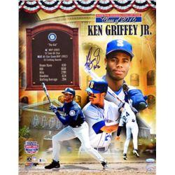 """Ken Griffey Jr. Signed Mariners 16x20 Photo Inscribed """"HOF '16"""" (TriStar Hologram)"""