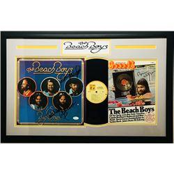 Beach Boys 19x30 Custom Framed Record  Magazine Display Signed by (4) with Carl Wilson, Mike Love, B