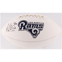 Todd Gurley Signed Rams Logo Football (Radtke COA)