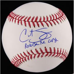 "Curt Schilling Signed OML Baseball Inscribed ""Reverse the Curse"" (JSA COA)"