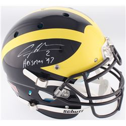 "Charles Woodson Signed Michigan Wolverines Full-Size Authentic On-Field Helmet Inscribed ""Heisman 97"