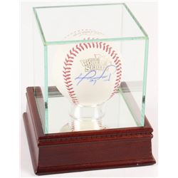 David Ortiz Signed Red Sox 2013 World Series Baseball with High Quality Display Case (MLB Hologram