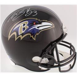 Willis McGahee Signed Ravens Full-Size Helmet (DA COA)