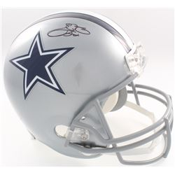 Emmitt Smith Signed Cowboys Full-Size Helmet (Beckett COA  Denver Autographs COA)