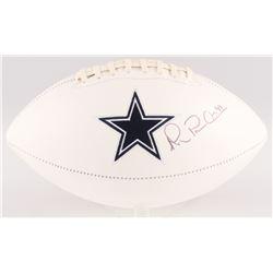 "Michael ""Playmaker"" Irvin Signed Dallas Cowboys Logo Football (JSA COA)"