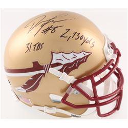 "Devonta Freeman Signed Florida State Seminoles Mini Helmet Inscribed ""2730 yds""  ""31 TDs"" (Radtke Ho"