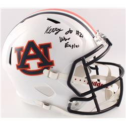 "Kerryon Johnson Signed Auburn Tigers Full-Size Speed Helmet Inscribed ""War Eagle!!"" (Radtke COA)"