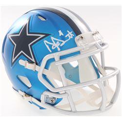 Dak Prescott Signed Cowboys Blaze Mini-Helmet (JSA COA  Prescott Hologram)