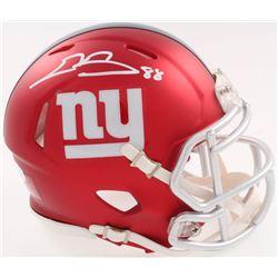 Evan Engram Signed Giants Blaze Speed Alternate Mini-Helmet (JSA COA)