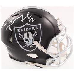 Khalil Mack Signed Raiders Blaze Speed Alternate Mini-Helmet (JSA COA)