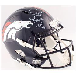 Courtland Sutton Signed Broncos Full-Size Speed Helmet (Beckett COA)
