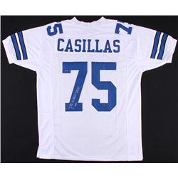 "Tony Casillas Signed Cowboys Jersey Inscribed ""SB XXVII XXVIII Champs"" (Jersey Source Hologram)"