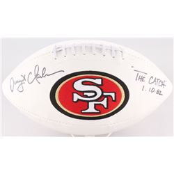 """Dwight Clark Signed 49ers Logo Football Inscribed """"1.10.82""""  """"The CATCH"""" (TriStar)"""