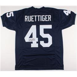 "Rudy Ruettiger Signed Notre Dame Fighting Irish Jersey Inscribed ""Never Quit!"" (JSA COA)"
