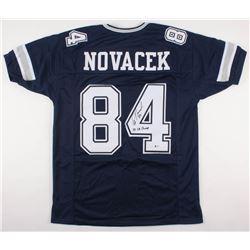 "Jay Novacek Signed Cowboys Jersey Inscribed ""3x SB Champs"" (Beckett COA)"