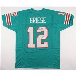 """Bob Griese Signed Dolphins Jersey Inscibed """"HOF 90"""" (JSA COA)"""