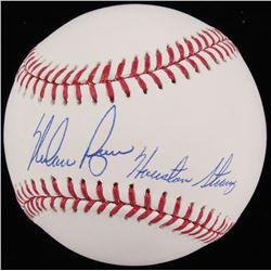"""Nolan Ryan Signed 2017 World Series OML Baseball Inscribed """"Houston Strong"""" (JSA COA  Ryan Hologram)"""