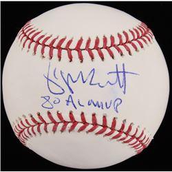 """George Brett Signed OML Baseball Inscribed """"80 AL MVP"""" (Beckett COA)"""