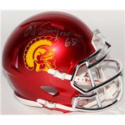 "O.J. Simpson Signed USC Trojans Speed Chrome Mini Helmet Inscribed ""68"" (JSA COA)"