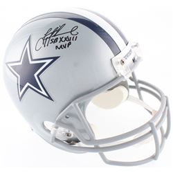 "Troy Aikman Signed Cowboys Full-Size Helmet Inscribed ""SB XXVII MVP"" (Radtke COA  Aikman Hologram)"