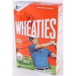 Jordan Spieth Signed Wheaties Cereal Box (Beckett COA)